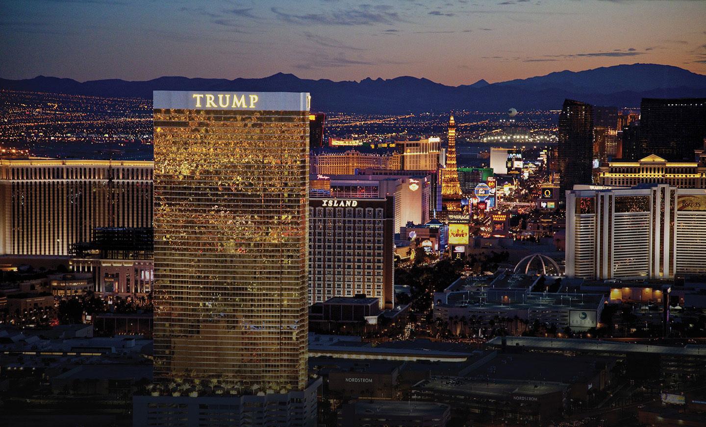Las Vegas Trump Towers at Twilight