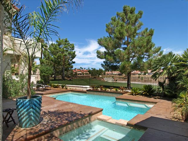 Spanish Trail Golf Course Homes - Pool Home Yard