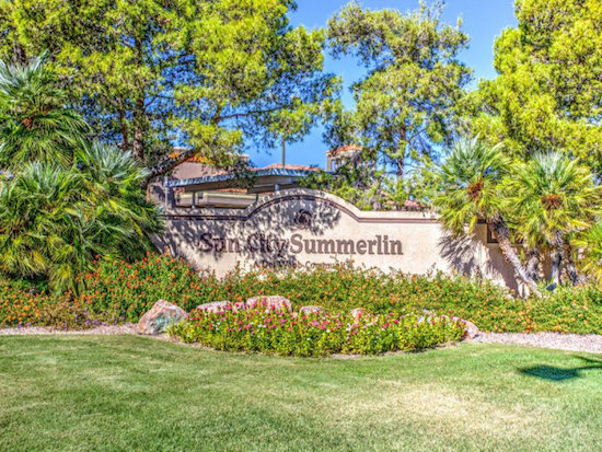 SUn City Summerlin in Las Vegas Monument-Age 55+ Homes for Sale